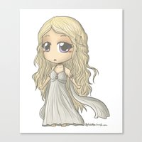 mother of dragons Canvas Prints featuring Mother of Dragons by ScottyTheCat