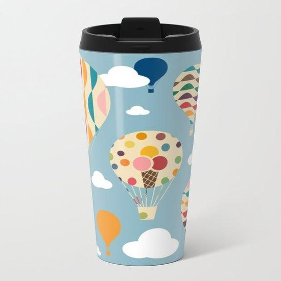 hot air ballon Metal Travel Mug