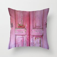 Strawberry Shutter Throw Pillow