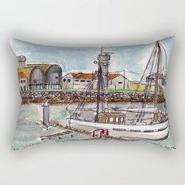 The Harbour, Figueira Da Foz, Portugal Rectangular Pillow