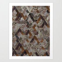 Wood Quilt Art Print