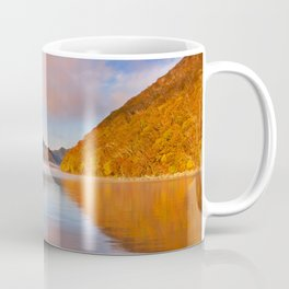 Lake Chuzenji, Japan at sunrise in autumn Coffee Mug
