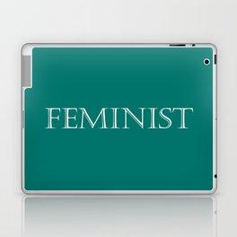 Feminist - Green and White Laptop & iPad Skin