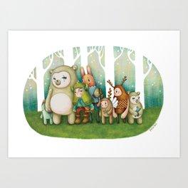 Wonderland friends II Art Print
