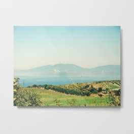 YESTERDAY YOU TOLD ME 'BOUT THE BLUE BLUE SKY Metal Print