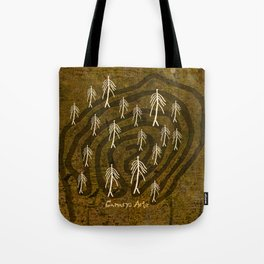 Ethnic 4 Canary Islands / Crowd in the Maze Tote Bag