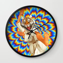 Fighting Tiger Wall Clock