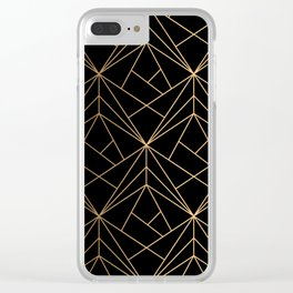 Elegant geometric copper black Clear iPhone Case