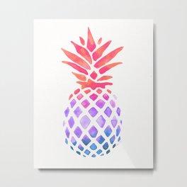 Summer Pineapple Metal Print