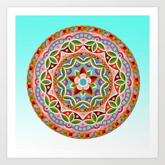 Circus Mandala Art Print