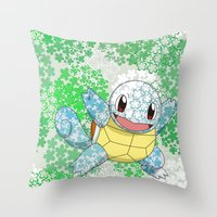 squirtle Throw Pillows featuring Squirtle by Mischievie