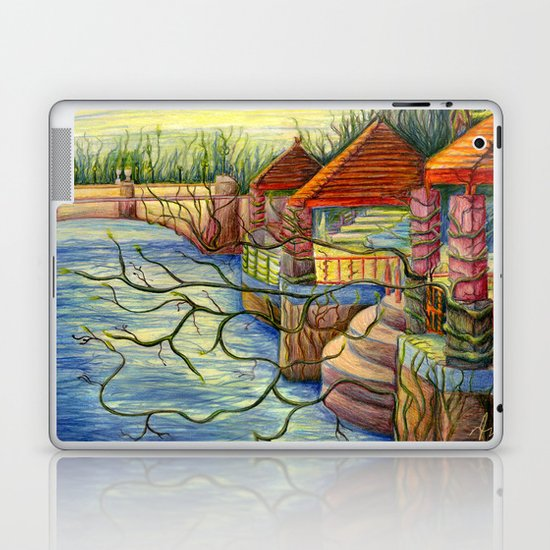 Pulling You In - Colored Pencil Drawing Laptop & iPad Skin