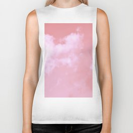 Dreaming floating candy on beige pink Biker Tank