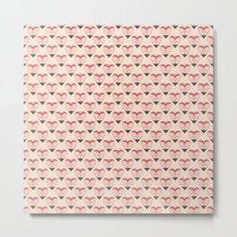 Heart Butt Pattern Metal Print