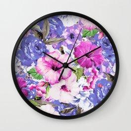 Purple Blossom #society6 #buyart #decor Wall Clock