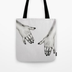 lady's hand Tote Bag