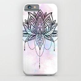 Watercolor Lotus iPhone Case