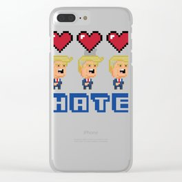 Love Trumps Hate Clear iPhone Case