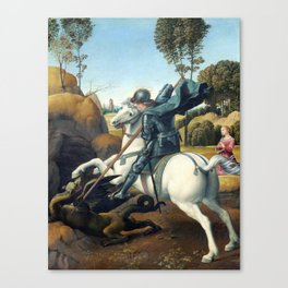 Raphael Saint George and the Dragon Canvas Print