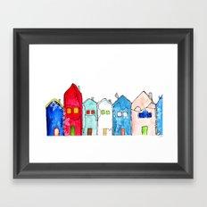 Houses1 Framed Art Print
