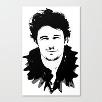 james franco Canvas Prints featuring james franco by looseleaf