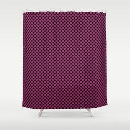 Festival Fuchsia and Black Polka Dots Shower Curtain