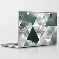 polygon Laptop & iPad Skins featuring Waves polygon by cat&wolf