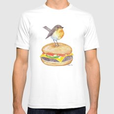 Chubadee on a Cheeseburger X-LARGE White Mens Fitted Tee