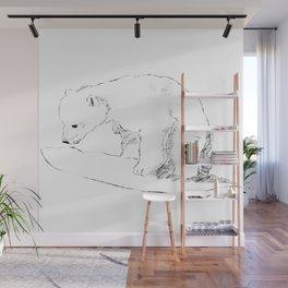 Inquisitive bear Wall Mural