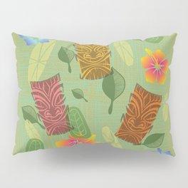 Bamboo Tiki Room Pattern Pillow Sham
