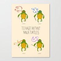 teenage mutant ninja turtles Canvas Prints featuring teenage mutant ninja turtles by Lionel Hotz