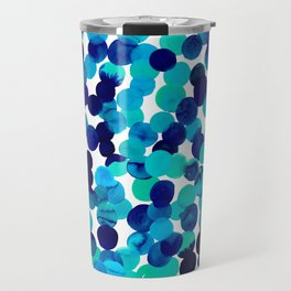 Gracie Spot Blue Travel Mug