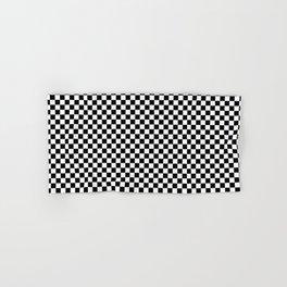 Small Checker Print - Black and White Hand & Bath Towel