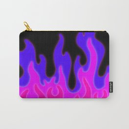 Bright Pink and Purple Flames! Carry-All Pouch