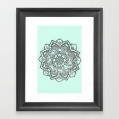 sea foam mandala Framed Art Print