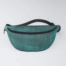 Teal Green Solid Abstract Fanny Pack