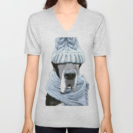 Great Dane Winter is Here Unisex V-Neck
