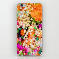 sparkles iPhone & iPod Skins featuring POP-Sparkles by Joke Vermeer