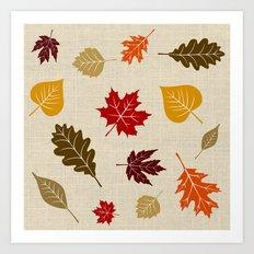 When The Leaves Fall Art Print