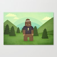 sasquatch Canvas Prints featuring sasquatch  by Pope Saint Victor