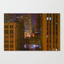 Four Color Construction Site Canvas Print