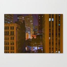 Four Color Construction Site Canvas Print