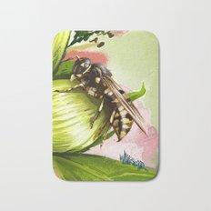 Wasp on flower 6 Bath Mat