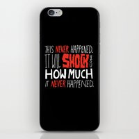 men iPhone & iPod Skins featuring Mad Men by Chris Piascik