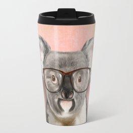 Funny koala with glasses Travel Mug