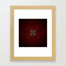 Decorative celtic knot Framed Art Print