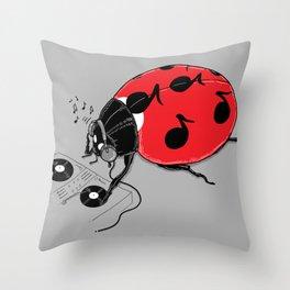 DJ beatLE  Throw Pillow