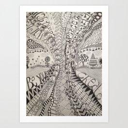 'Tangled Tree Art Print