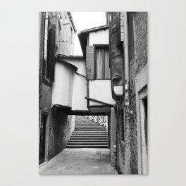 Unusual Venice #3 - Black and White Canvas Print