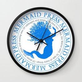 Mermaid With Coral Hair Wall Clock